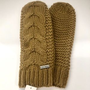 🆕 MICHEAL KORS cable knit women's mittens